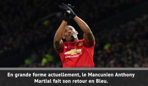 Equipe de France : Martial, le grand retour