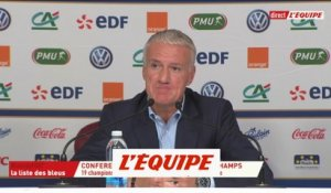 Deschamps «Benjamin Mendy, une force de la nature» - Foot - Ligue des Nations - Bleus