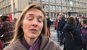 Manifestation d'enseignants contre les suppressions de postes