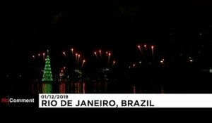 Le sapin de Noël de Rio, attraction majeure