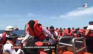 Migrants : l'Aquarius définitivement à quai