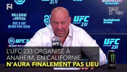 L'UFC 233 annulé !