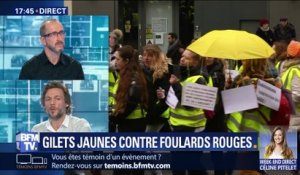 Gilets jaunes contre foulards rouges