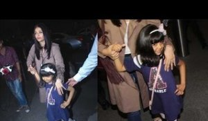 Aishwarya's daughter Aaradhya's CUTE pose for media before Cannes 2017