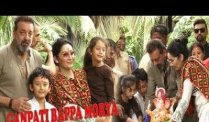 Sanjay Dutt Celebrates an ECO FRIENDLY GANPATI VISARJAN With Wife Maanayata Dutt and Kids