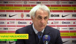 AS Monaco - FC Nantes : la réaction de Vahid Halilhodzic