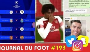Le tirage des 1/4 Ligue des Champions, le message de CR7 à EVRA, le sale geste d'IWOBI