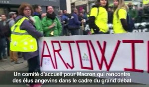 Grand débat à Angers: manifestations anti-Macron
