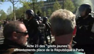 """Gilets jaunes"": affrontements place de la République à Paris"
