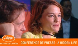A HIDDEN LIFE - Conference de presse - Cannes 2019 - VF
