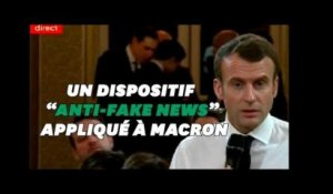"Et si un ""dispositif anti-fake news"" était appliqué à Macron"