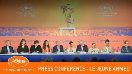 LE JEUNE AHMED - Press conference - Cannes 2019 - EV