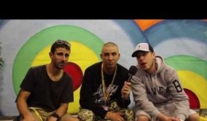 Interview: Bliss N Eso with DJ Izm at the Big Day Out Sydney (2014)