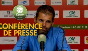 Conférence de presse US Orléans - FC Chambly (0-1) : Didier OLLE-NICOLLE (USO) - Bruno LUZI (FCCO) - 2019/2020