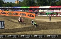 Prado and Sanayei battle for the lead - MX2 Race 1 - MXGP of Italy - Imola 2019