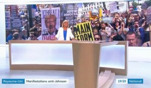 Royaume-Uni : des manifestations anti-Johnson à Londres