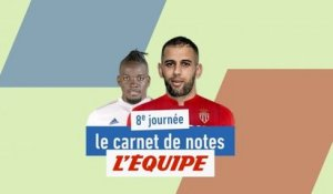 Le carnet de la notes de la 8e journée - Foot - L1
