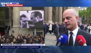 "Hommage à Jacques Chirac: Jean-Michel Blanquer évoque ""un moment d'unité nationale et internationale"""