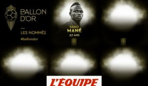 De Mané à Lloris, les nommés de 1 à 5 - Foot - Ballon d'Or France Football 2019