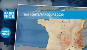 The route / Parcours - Paris-Nice 2020