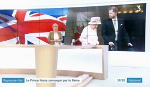 Royaume-Uni : la Reine convoque le prince Harry