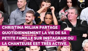 Christina Milian et Matt Pokora confinés : le couple organise une mini pool party en famille