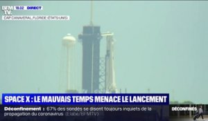 Le mauvais temps menace le premier vol habité de Space X