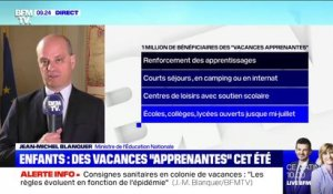 "Vacances ""apprenantes"": ""Un million d'enfants concernés par le dispositif"", affirme Jean-Michel Blanquer"