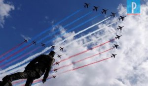 Appel du 18 juin : la Patrouille de France et les Red Arrows de la RAF survolent Paris