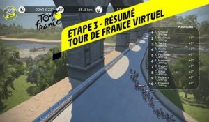 Tour de France Virtuel 2020 - Etape 3 - Résumé