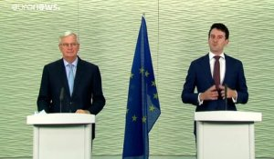 "Un accord post-Brexit ""peu probable"" selon Michel Barnier"