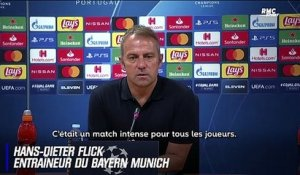 "OL - Bayern Munich : ""On a eu de la chance"" reconnait Flick"
