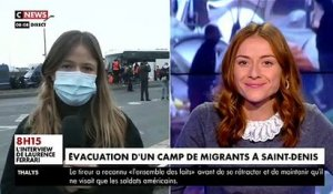Saint-Denis: Un important campement de migrants au pied du Stade de France a été évacué ce matin par les forces de l'ordre - VIDEO
