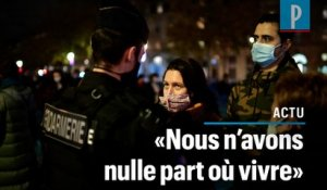 Paris : des centaines de migrants s'installent place de la République, la police intervient