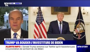 Donald Trump annonce qu'il n'assistera pas à l'investiture de Joe Biden