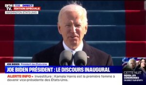 "Joe Biden: ""Il y a beaucoup de choses à réparer, beaucoup de choses à restaurer, à guérir"""