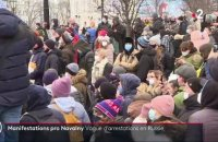 Russie : vague d'arrestations lors de manifestations pro-Navalny