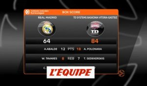 Les temps forts de Real Madrid - Baskonia Vitoria - Basket - Euroligue (H)