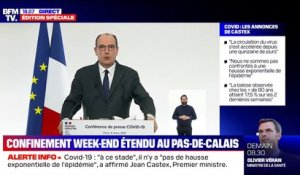 "Jean Castex: le confinement le week-end étendu ""à l'ensemble du département du Pas-de-Calais"""