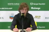 "ATP - Rolex Monte-Carlo 2021 - Andrey Rublev : ""Stefanos Tsitsipas is definitely one of the top guys I play the most"""