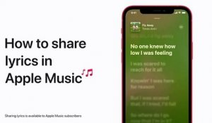 Comment partager des paroles sur Apple Music avec un iPhone, iPad, et iPod touch — Apple Support