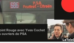 POINT ROUGE YVES COCHET FACE AUX OUVIERS DE PSA