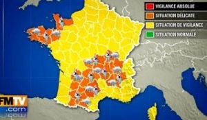 29 départements en vigilance orange