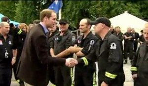 Nouvelle-Zélande: le Prince William de passage à Christchurch