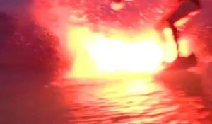 Bruce Irons Night Surfing with Flares!