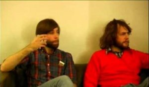 Shout Out Louds 2007 interview - Adam Olenius and Ted Malmros (part 1)