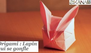 Origami : Lapin qui se gonfle