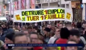 GoodYear : action de protestation en famille