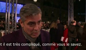 George Clooney à Paris pour présenter The Monuments Men