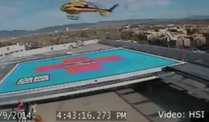Gros crash en Helicopter à Albuquerque
